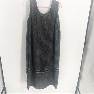 Flax Maxi Sleeveless Dress Sz 1G= XL